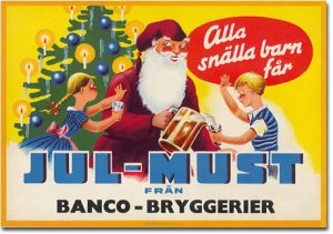 Klassisk julmustetikett från Bancobryggerier (bild lånad från deras hemsida).