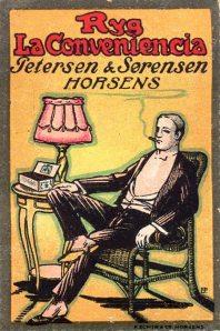 Äldre dansk reklambild. (Bilden används med tillstånd av sajten filatelisten.dk.)