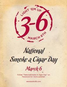 Affisch för National Smoke a Cigar Day från initiativorganisationen Table 36. © Table 36