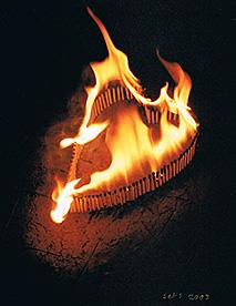 Burning Heart. (Bilden lånad från Tändsticksmuseets hemsida.)