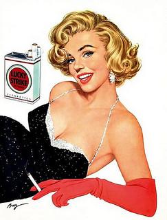 I synnerhet märket Lucky Strike förefaller ha gjort reklam för sina produkter i samband med cigarettdieten.