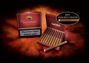 Klassiska Dannemann-cigariller försedda med dubbelfilter. Notera att filtret utgör ungeför halva cigarillens längd! (© Dannemann/ Burgher Group)