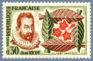 Jean Nicot på vackert fransk frimärke.